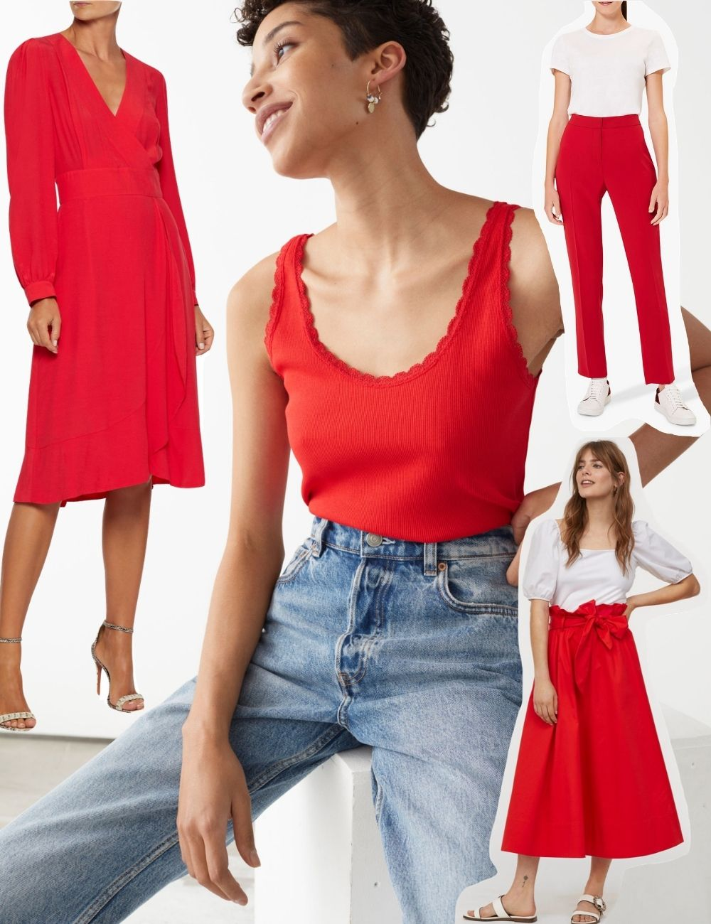 scarlet red fashion trend aw20