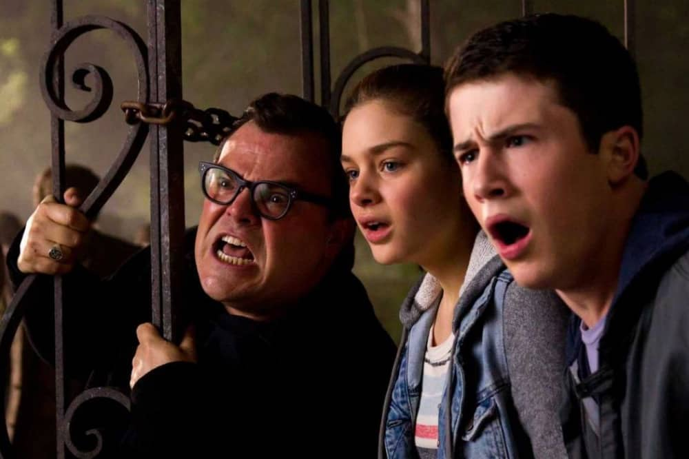 Goosebumps Jack-Black-Dylan-Minnette-and-Odeya-Rush