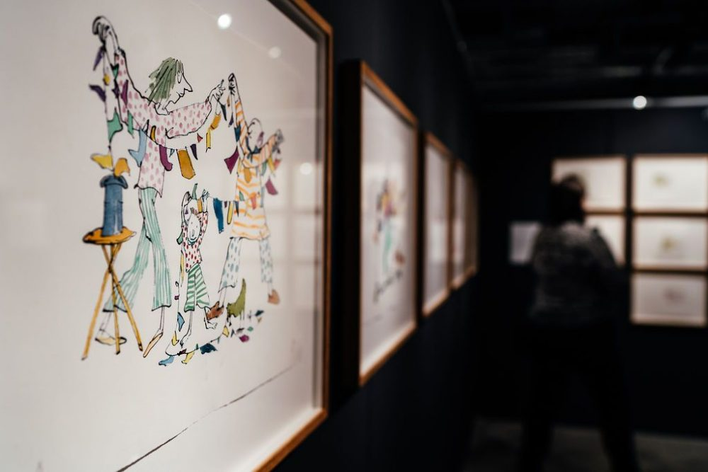 QUENTIN BLAKE JOHN YEOMAN exhibition The Base Newbury