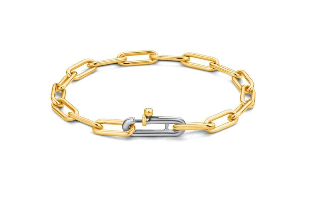 Rococo gold and silver chain bracelet
