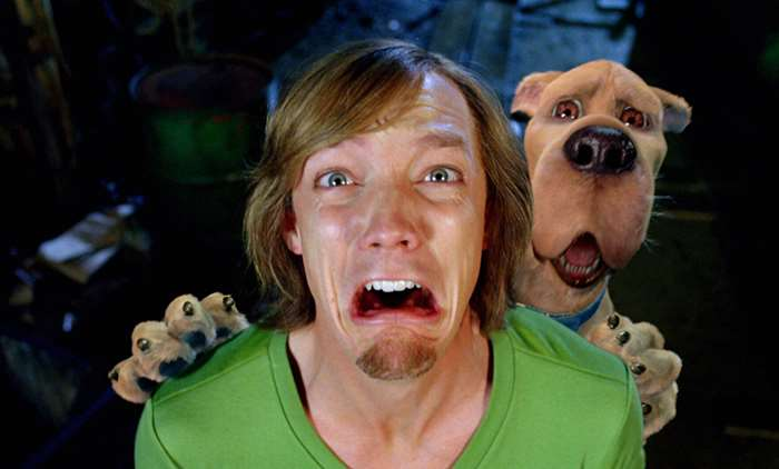 Shaggy and Scooby Doo in live action movie