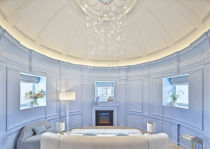 One Aldwych pale blue circular room