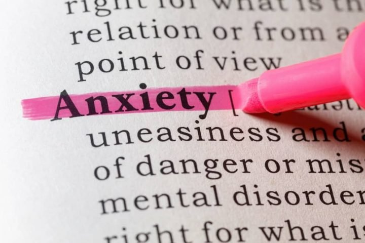 highlighted word 'anxiety'
