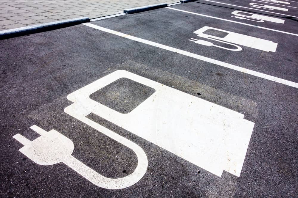 parking spaces for electric cars