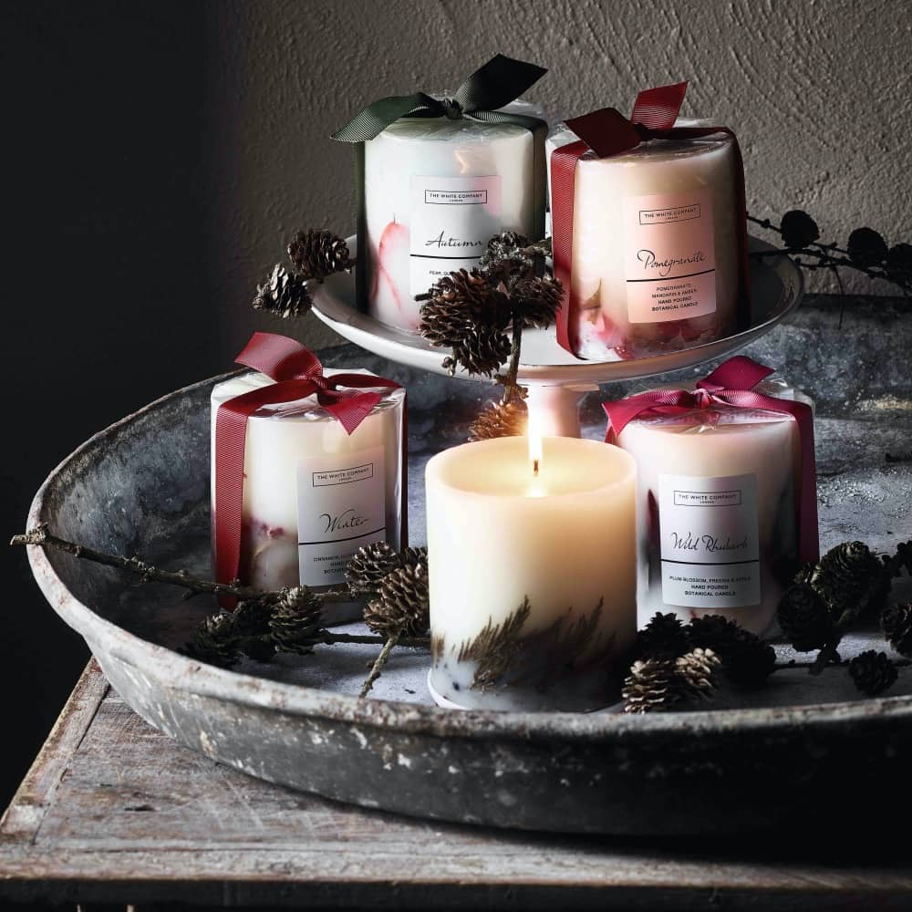The White Company Winter candles Camp Hopson Newbury