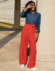 Boden wide leg trousers