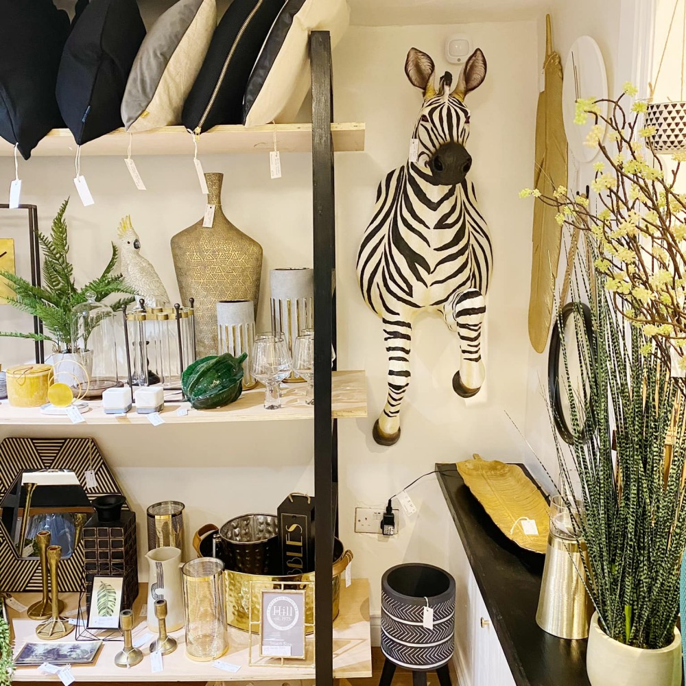 Victoria and Co Shop Twyford Zebra on wall