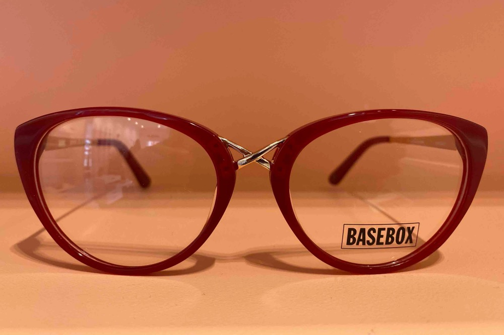 BASEBOX RED CATS EYE FRAMES dr valarie jerome