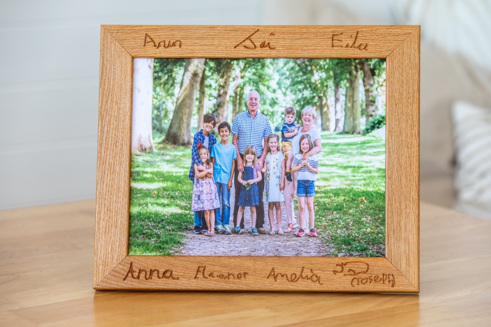 Hugo's Workshop personalised-oak-photo-frames