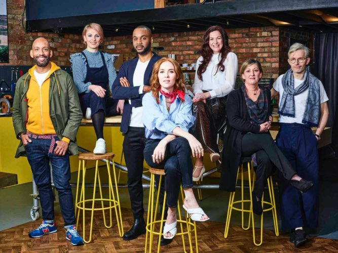 Programme Name: Your Home Made Perfect - S3 - TX: 24/05/2021 - Episode: Your Home Made Perfect - S3 - Series Stills (No. n/a) - Picture Shows:  Damion Burrows, Lizzie Fraher, Julian McIntosh, Angela Scanlon, Laura Jane Clark, Lynsey Elliott, Will Foster - (C) Remarkable TV - Photographer: Remarkable TV