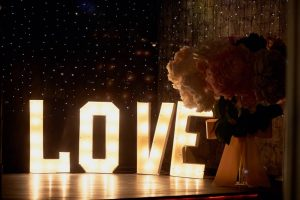 BLOOMING FABULOUS FLOWERS LIGHT UP LETTERS