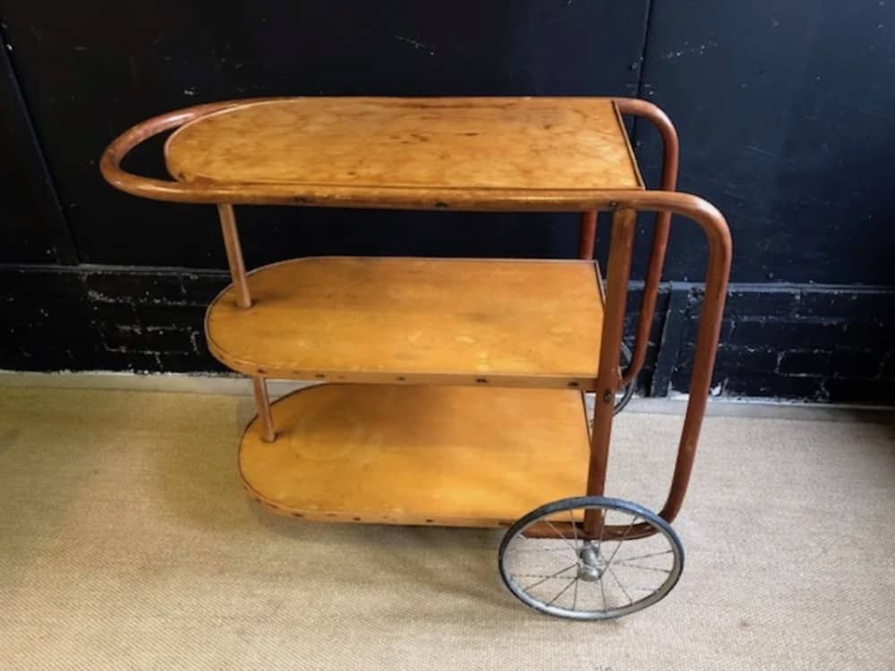 1920s antique drinks trolley