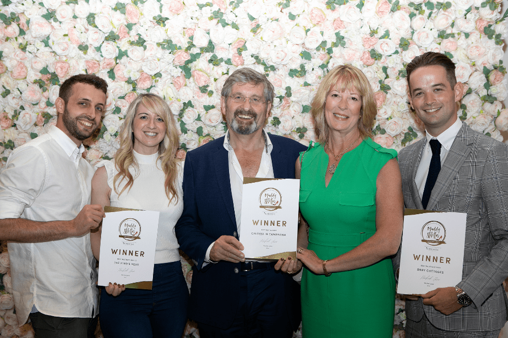 Bray winners Muddy Awards Berkshire 2021 Caldesi In Campagna, The Hind's Head pub and Bray Cottages