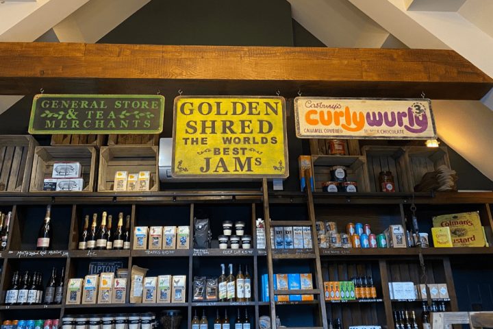 Goswell and Bird's village Shop Finchampstead vintage signs