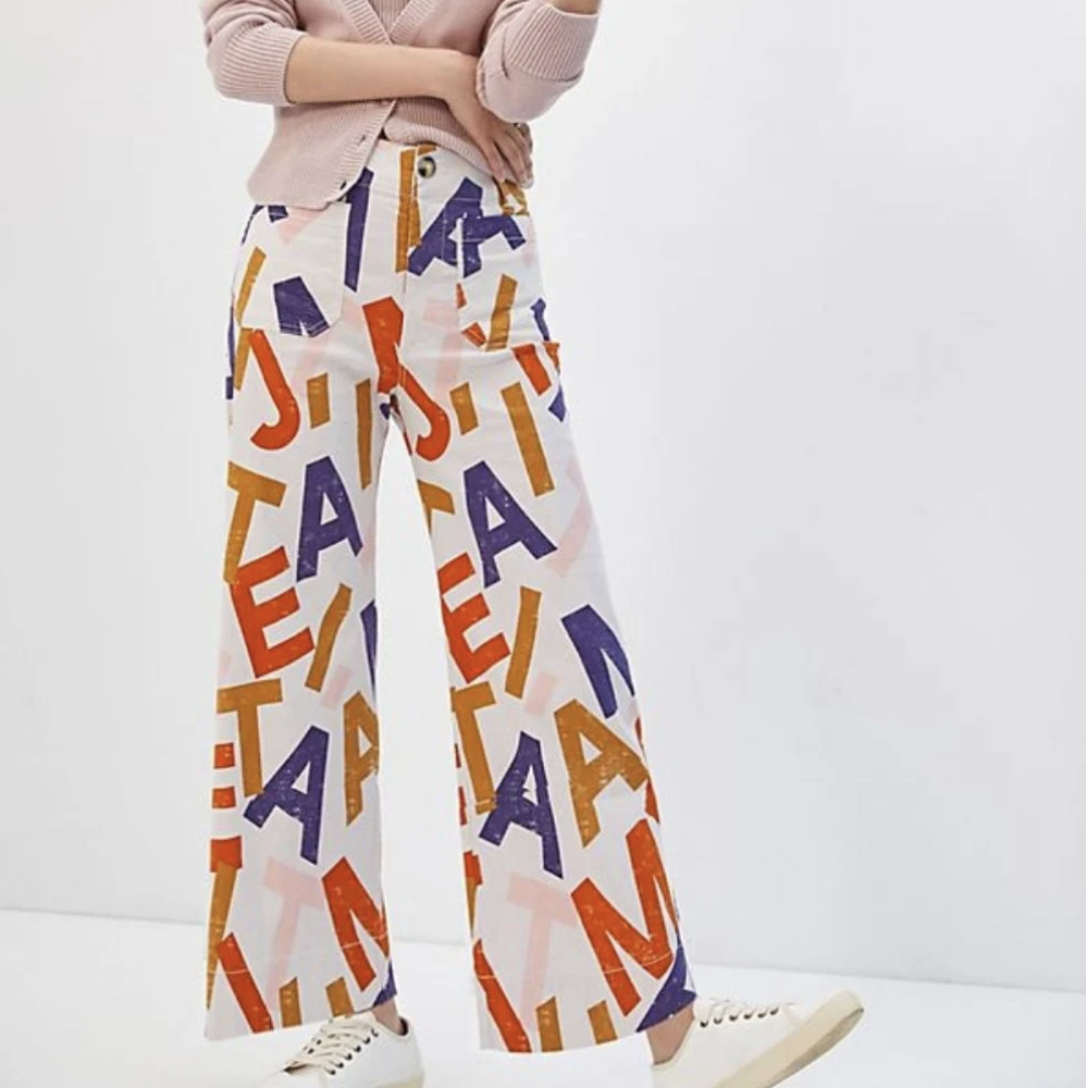 Antropologie J t'aime trousers