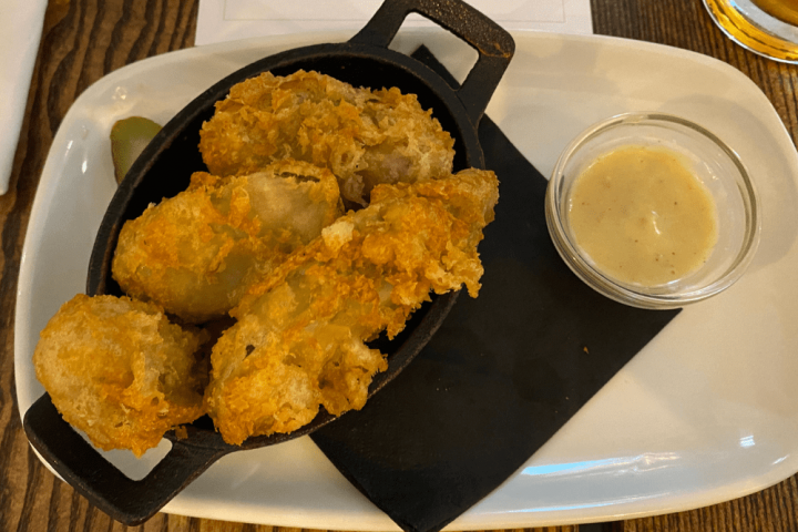 DEEP FRIED PICKLES WITH STILTON DIP The Greyhound Finchampstead